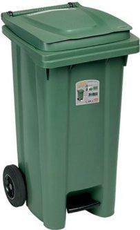 Мусорный бак Stefanplast с педалью 120 л Зеленый (25701sp)