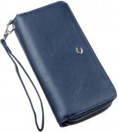 Женский кошелек кожаный ST Leather Accessories 18869 Синий