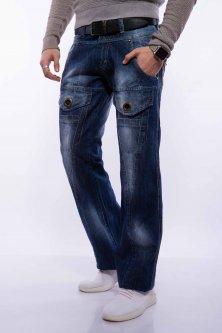 Джинси широкі з накладними кишенями Time of Style 158P3259 29 Синій