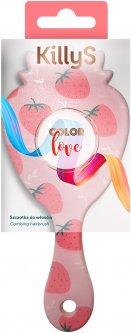 Щетка для волос KillyS массажная Color Love в форме клубнички 417737 (5902704177376)