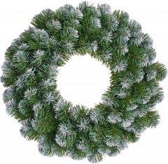 Венок Black Box Trees Norton декоративный 45 см зеленый с эффектом покрытия инеем (8718861288964)