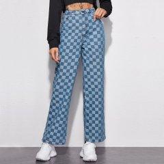 Джинси жіночі з фактурного деніму Square Berni Fashion (XL) Блакитний (56747)