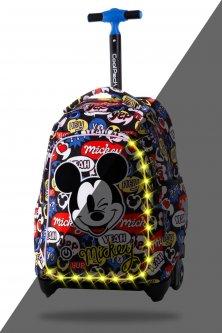 Рюкзак CoolPack Jack Mickey Mouse на колесах c LED подсветкой 24 л 44х31х19 см (B52300)