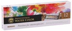 Набор акварельных красок MUNGYO Gallery 12 цветов в кюветах металлический пенал (8804819139126)