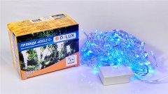Светодиодная гирлянда DELUX ICICLE 100LED С 3.2х0.7 м Синий/Прозрачный IP20 (90015253)