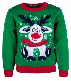 Джемпер Flash Різдво 19BG133-6-3900 146 см NY Зелений (2222316722010)