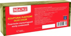 Скульптурный пластилин Maxi Оливковый 400 г (MX60251-01)
