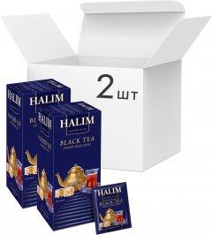 Упаковка черного чая Halim 2 пачки по 25 пакетов (4820229040757)