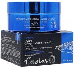 Гидрогелевые патчи для глаз FarmStay Caviar & Collagen Hydrogel Eye Patch с коллагеном и экстрактом икры 60 шт 90 г (8809460461077)
