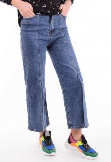 Широкі джинси жіночі з розрізами 30