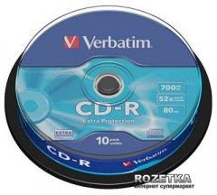 Verbatim CD-R 700 MB 52x Cake 10 шт Extra (43437)