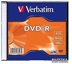 Verbatim DVD-R 4,7 GB 16x Slim 1 шт (43547)