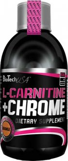 Жиросжигатель Biotech L-Carnitine + Chrome 500 мл Апельсин (5999500532447)