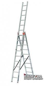 3-х секционная лестница Krause Tribilo 9 ступеней (129673)