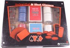 Набор для игры в покер Duke 200 фишек, 4 рюмки (PG42200)