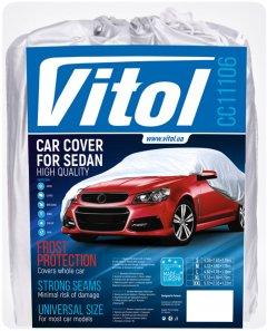 Тент автомобильный Vitol CC11106 M Серый