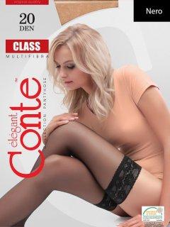 Чулки Conte Class 20 Den 3-4 р Nero -4810226009031