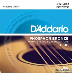 DAddario EJ16 Phosphor Bronze Light (12-53)