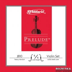 Струны D'Addario J810 4/4H Prelude Heavy Tension