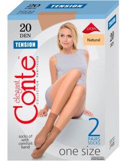 Носки Conte Tension 20 Den 2 пары Natural (4810226002520)