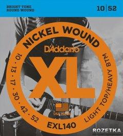 D'Addario EXL140 Nickel XL Light Top/Heavy Bottom (10-52)