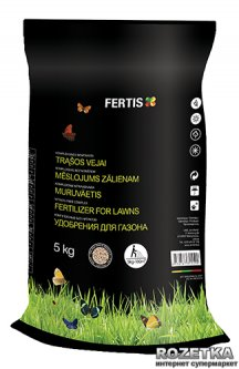 Весеннее удобрение для газона Fertis без хлора и нитратов 5 кг (10506875) 4770767315599/4779039690365