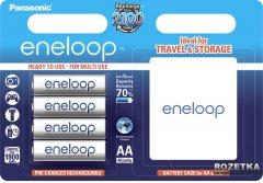Аккумулятор Panasonic eneloop AA 1900 мАч Ni-MH 4 шт + кейс (BK-3MCCEC4BE)