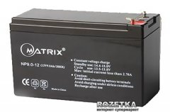 Аккумуляторная батарея Matrix 12V 9Ah (NP9-12)