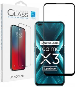 Защитное стекло ACCLAB Full Glue для Realme X3 Black (1283126508462)