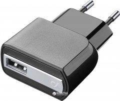 Сетевое зарядное устройство Cellular Line Compact USB Black (ACHUSBCOMPACT)