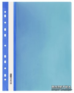 Набор папок-скоросшивателей Economix 10 шт А4 120/160 мкм с прозрачным верхом с перфорацией Синий (31510-02_1)