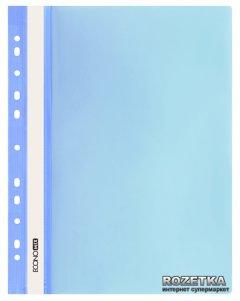 Набор папок-скоросшивателей Economix 10 шт А4 120/160 мкм с прозрачным верхом с перфорацией Голубой (31510-11_1)