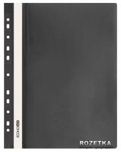 Набор папок-скоросшивателей Economix 10 шт А4 120/160 мкм с прозрачным верхом с перфорацией Черный (31510-01_1)