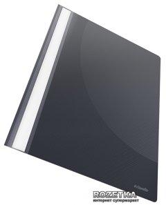 Папка-скоросшиватель PP Esselte VIVIDA А4 c прозрачным верхом, черная, уп/25шт (15388)