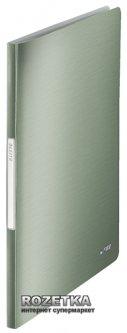 Папка пластиковая Leitz Style А4 20 файлов Зеленая (39580053)