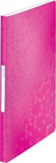 Папка пластиковая Leitz WOW А4 40 файлов Розовая (46320023)