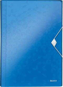 Папка с отделениями Leitz WOW А4 6 отделений Голубая (45890036)