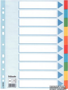 Картонные разделители Esselte А4 10 листов (100193)