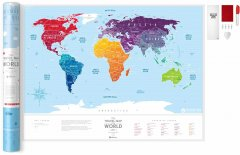Скретч-карта мира 1DEA.me Travel Map Silver (SW)