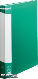 Папка пластиковая Buromax Job А4 40 файлов Зеленая (BM.3617-04)