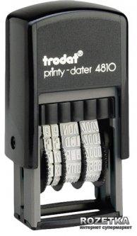 Минидатер Trodat 4810 3.8 мм Лат Черный корпус (4810 лат)