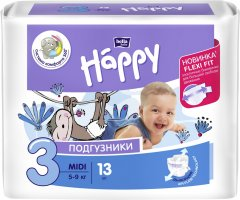 Подгузники детские Bella Baby Happy Midi 5-9 кг 13 шт (5900516600365)