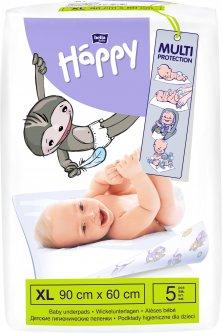 Одноразовые пеленки Bella Baby Happy 60x90 см 5 шт (5900516600723)