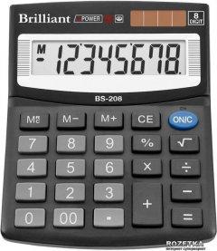 Калькулятор электронный Brilliant 8-разрядный (BS-208)