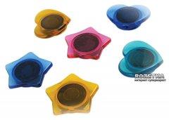 Набор фигурных магнитов Axent 30 мм 6 шт Разноцветный (9822-А)