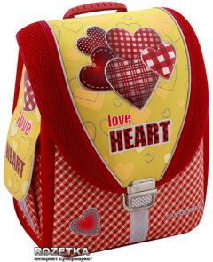 """Ранец школьный каркасный Cool For School Love Heart 710 трансформер 14"""" (85602)"""