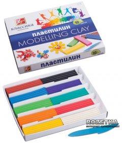 Пластилин Луч Классика + стек 10 цветов 200 г (7С304-08) (4601185000333)