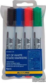 Набор маркеров Buromax для сухостираемых досок 2-4 мм 4 шт (BM.8800-94)