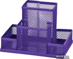 Металлическая подставка для канцелярских принадлежностей ZiBi Фиолетовая (ZB.3116-07)