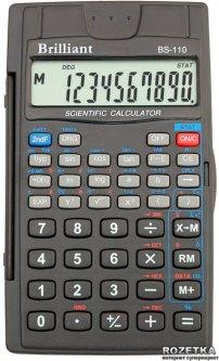 Калькулятор инженерный Brilliant 8-разрядный с 2 экспонентами (BS-110)